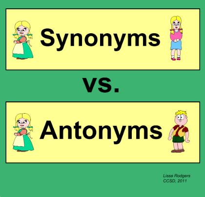 Essay about synonyms and antonyms